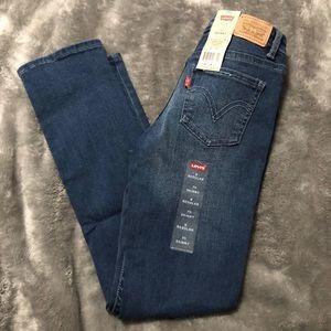 Girls 711 Levi's skinny super soft jeans 8